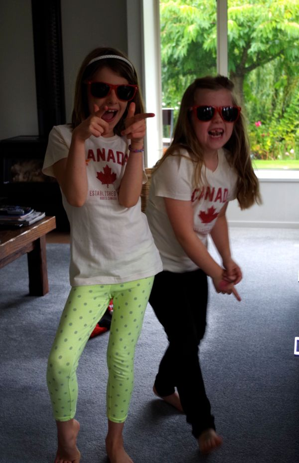 The Cousins Sport a Little Canadiana